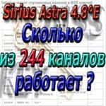 Astra 4A, 4.8°E ( Sirius ) сканируем 244 канала
