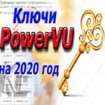 Ключи PowerVU